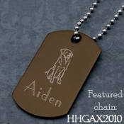 Dog Tag Mens Brown